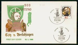 Mayfairstamps GERMANY FDC 1980 COVER GOTZ VON BERLICHINGEN wwm56163