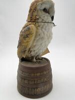 Empty Ezra Brooks China Old Ezra 9 1/2in Owl Decanter