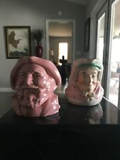 Set of Two Toby Creamer / Pitchers A Sailor and his Wife