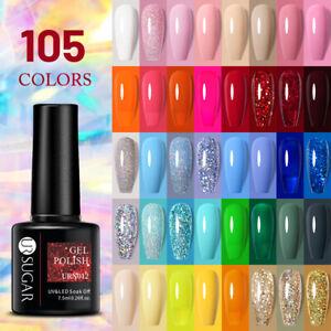 UR SUGAR 105 Colors Gel Nail Polish Nail Color Soak Off UV Gel Varnish Base Top