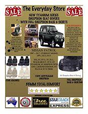 Nissan Patrol 1997-2017 Titanium Sheepskin Seat Covers All Over Btm Pr ABAG 35MM
