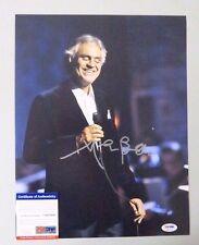 52224 Andrea Bocelli Opera Singer Signed 11x14 Photo Auto Psa/Dna Coa