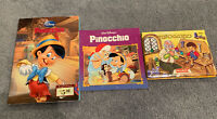 Walt Disney's Pinocchio Books Lot *Lot of 3*