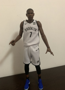custom made 1/6 action figure white jersey kd nets #7 kevin durant fit enterbay