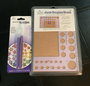 Quilled Creations Quilling Work Board 38 Hole Circle Template Board & Tool Kit
