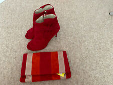 Karen Millen Red Shoes Size 5 With Matching Bag.