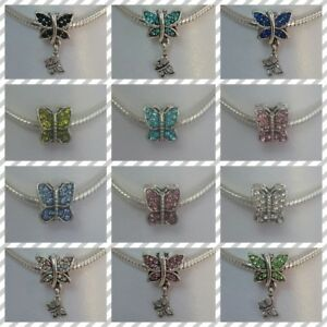 ❤ Rhinestone Butterfly Style Charms ❤ FOR CHARM BRACELETS ❤