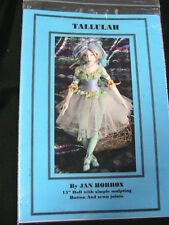 "TALLULAH~Jan Horrox *RARE 15"" (38.1cm) WHIMSICAL DANCER cloth art doll pattern"