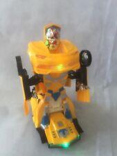 Transform Robot Electric  Toy Car Music Light Racer Car Model For Boy Kid