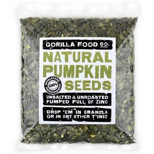 Gorilla Food Co. Natural Pumpkin Seeds - 200g-4.8kg (Great value £ per 1kg)