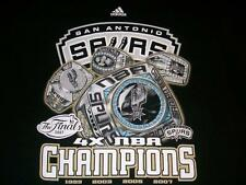 San Antonio SPURS 2007 NBA 4x Champions Finals Rings Black T-shirt Adult Medium