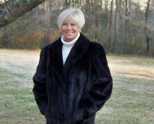 Natural Black Female USA MINK Fur Stroller Coat L XL 12 14 16 *Showroom*