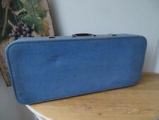 V1566 Alter Reisekoffer um 1940 ~ sehr dekorativ ~ Vintage ~ Koffer Musikkoffer