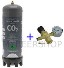 2.2L CARBON DIOXIDE DISPOSABLE BOTTLE, REGULATOR CO2 GAS HOME BREW BEER AQUARIUM
