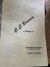C.C. Browns Ice Cream Menu Famous Hollywood Cali Dairy Advertising Yellow 4-page
