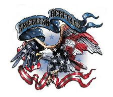 USA Flag PATRIOTIC BALD EAGLE American Heritage MILITARY STICKER Toolbox DECAL