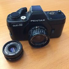 Pentax Auto 110 SLR Film Camera with 18mm and 24mm Lens