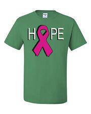 Hope Breast Cancer Awareness T-Shirt Pink Ribbon Tee Shirt Cure Support Walk Run