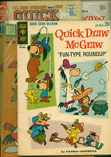 8 Quick Draw McGraw comic book Lot, Dell 4,5,6, Gold Key 12,14,15 Charlton 6,8