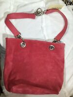 NWT Tanner Handbag 👛Purse Suede Leather Rose Color Made in Italy/W Dust Bag🦋