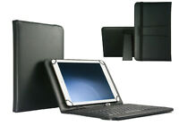 """10.1"""" QWERTY Keyboard Case Book Cover For Sony Xperia Tablet Z2 SGP512 - Black"""