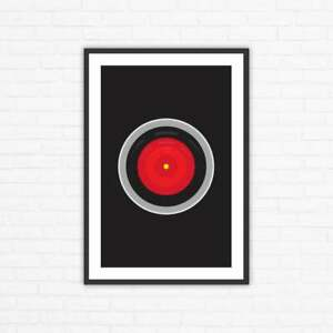 Stanley Kubrick, 2001: A Space Odyssey Hal 9000 Minimalist Movie Poster