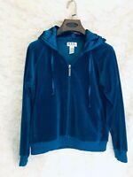 Women's New York Laundry N.Y.L Full Zip jacket / Hoodie Blue Large Satin Hood