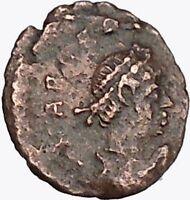 Arcadius 383AD Rare Authentic Ancient Roman Coin Wreath of success  i43005