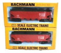 Bachmann Dixie Line 41' Quad Offset Hopper HO Scale Lot of 2 Louisville & Nashvi
