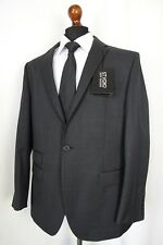Men's New Jeff Banks STVDIO Regular Fit Charcoal Checked Suit 42S W36 L31 AA502