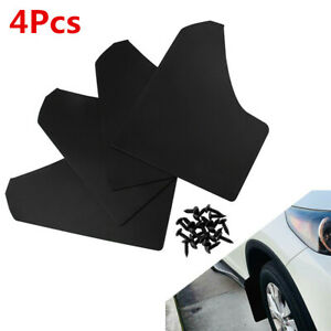 4Pcs Plastic MudGuards Fenders Splash Guard 15.3x11.6x7.1in For Car Truck Pickup