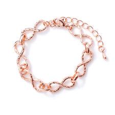 Modeschmuck Armband Infinity Unendlichkeit liebe Freundschaft Farbe RoseGold