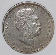 1883 $1 Hawaii Silver Dollar NGC AU50