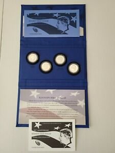 2014 50th Anniversary Kennedy Half Dollar Silver Coin Collection - 4 Coin Set
