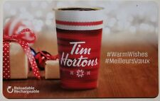 20?? TIM HORTONS  #WarmWishes/#MeilleursVoeux GIFT CARD ~FREE ship ~Unloaded