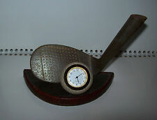 LARGE QUARTZ DESK CLOCK GOLF /GOLF BALL / GOLF CLUB