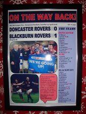 Doncaster Rovers 0 Blackburn Rovers 1 - 2018 - Blackburn promoted - framed print