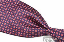 """STEFANO RICCI Recent Purple Red Floral Geo SATIN 100% Silk Luxury Tie - 3.625"""""""