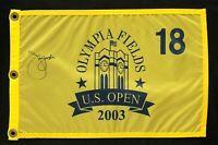 Jim Furyk Signed Autograph 2003 US Open Championship Flag W/COA