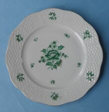 HEREND China NBV NIANG NANKING BOUQUET Green PEONY Vintage Porcelain SALAD PLATE