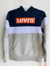 Levi's Big Boys Hoodie Pullover Sweatshirt Gray Size Small Logo New