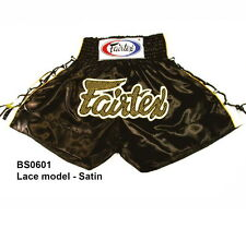 Fairtex Muay Thai Kick Boxing Satin Shorts Bs0601 Black Color Mma K1 Fighting