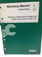 VOLVO PENTA WORKSHOP MANUAL ENGINE BODY P/N 7739945 (dbx2)