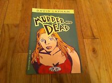 David Lapham MURDER ME DEAD #2 comic book EL CAPITAN  Stray Bullets October 2000