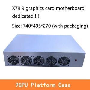 9 GPU server case frame mining rig house machine platform for X79 motherboard