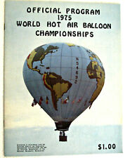 ⫸ RARE 1975 World Hot Air Balloon Championships Program Albuquerque NM