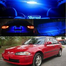 For 92-95 Civic Interior Blue LED Bulb Package (Map Dome+Trunk+License Plate)2