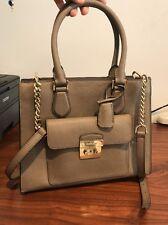 9f5e8a576a75 MICHAEL KORS Bridgette Medium EW Tote Satchel Dark Dune Saffiano Leather Bag