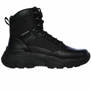 Skechers Men's 77533 Markan Bovill Black Military Tactical Work Boots