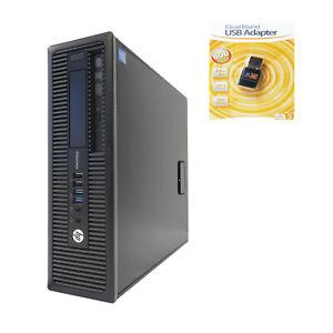 HP EliteDesk 800 G1 SFF i7-4790 Quad 3.60/4.0GHz 8GB Ram 500GB HDD WIFI Win 10 P